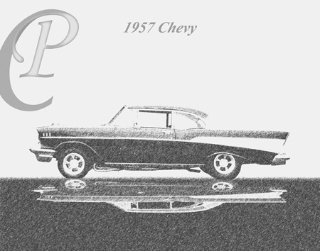 1957 Chevy drawing