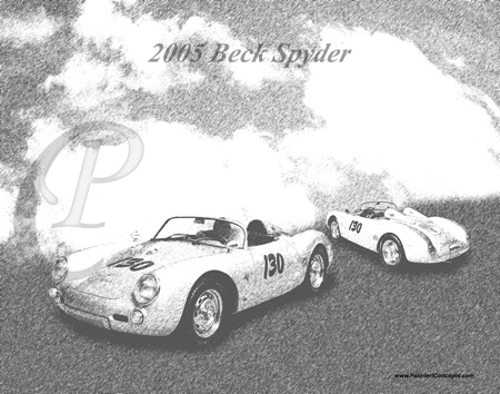 2005 Beck Porsche Spyder black and white