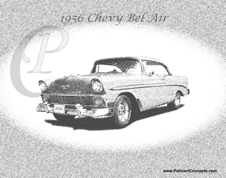 1956Chevy BelAir sketch