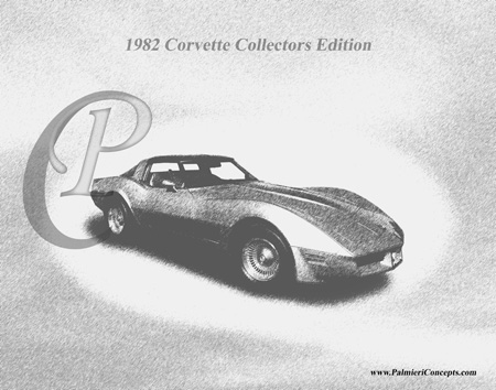 1982 Corvette Collectors Edition drawing