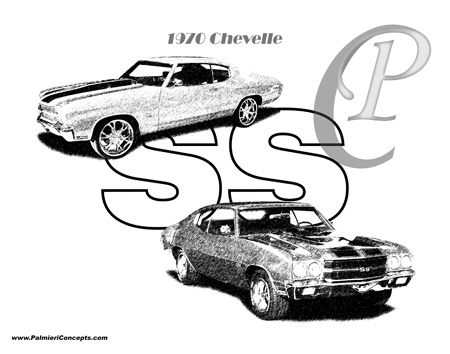 1970 Chevy Chevelles  illustration