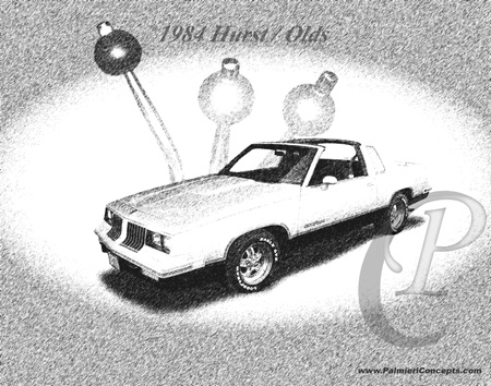 1984 Hurst Olds photpgraph