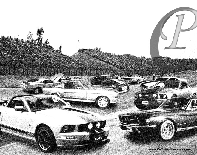 Making black and white picture of cars lesbian