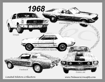 1968 Mustang Image - Classic Car Pictures