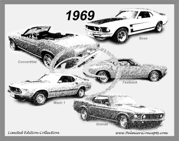 1969 Mustang Image - Classic Car Pictures