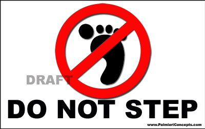 DO not step universal symbol magnet
