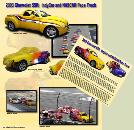 2003 Chevrolet SSR Pace car showboard image