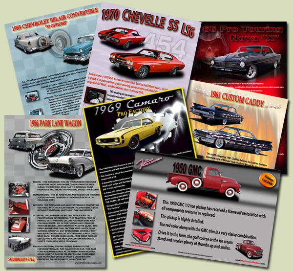 Barrett Jackson car show boards