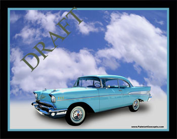 1957 Chevy in Clouds image