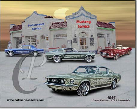 1967 mustang coupe, convertible , fastback, GTA  image