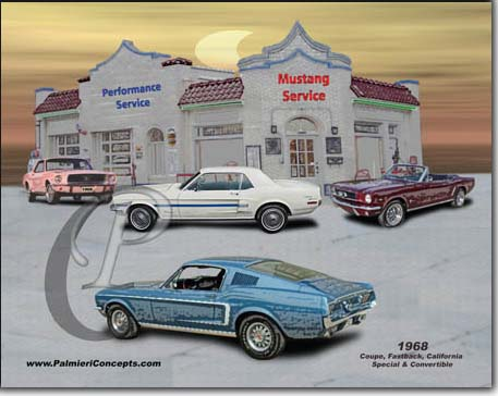 1968 mustang coupe, convertible , fastback, california Special  image