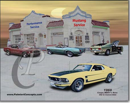 1969 mustang coupe, convertible , boss 302, mach 1  image