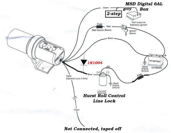 msd 6al wiring shift light