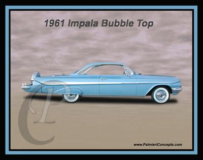 P27 1961 Impala Bubble Top Blue
