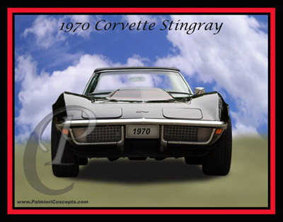 Corvette Stingray  on Copyright Palmieri Concepts   P95 1970 Corvette Stingray Front Black