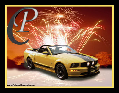 P20 2005 Mustang Gt Fireworks Yellow