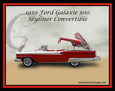 Palmieri Concepts / P92-1959-Ford-Galaxie-500-Skyliner-Convertible-Red