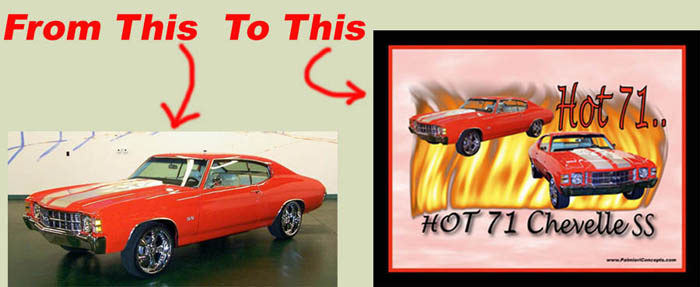1970 chevelle  with flames image