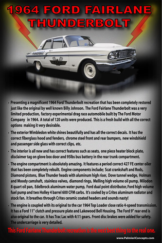 MS-1964 FORD FAIRLANE THUNDERBOLT poster