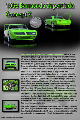 1968 Barracuda Supercuda Concept X showboard