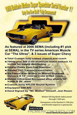 1969 Baldwin Motion Camaro  car showboard image