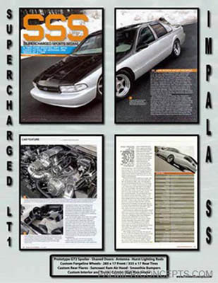 Impala SS Magazine feature showboard image
