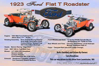 1923 Ford Flat T Roadster showboard image