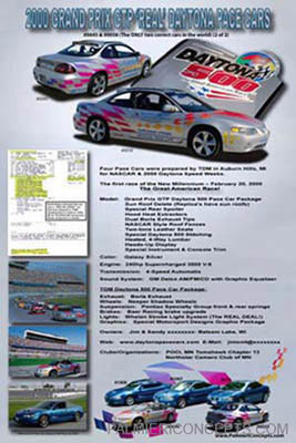 2000 Pontiac Grand Prix GTP Pace show board image