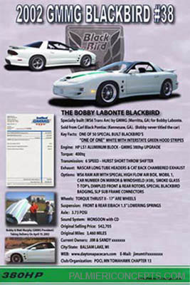Bobby Labonte black bird  showboard image