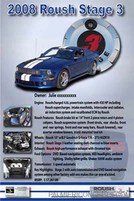 2008 Roush stage 3 story board sign image
