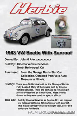 1963 VW Herbie car  poster board image