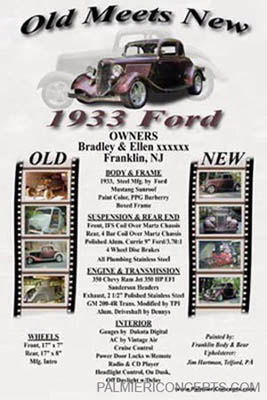 1933 Ford display card image
